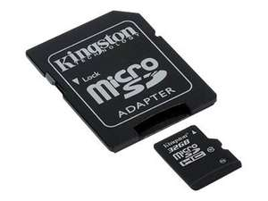 Kingston 32GB Micro SD Card (Class 10 with Adapter) £6.99 @ 7dayshop