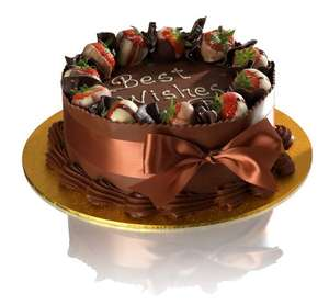 "8"" Double Chocolate Delight Celebration Cake Delivered £24.76 @ Patisserie Valerie"