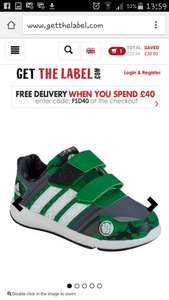 Boys marvel adidas trainers £19.99, £23.94 delivered @ Get The Label
