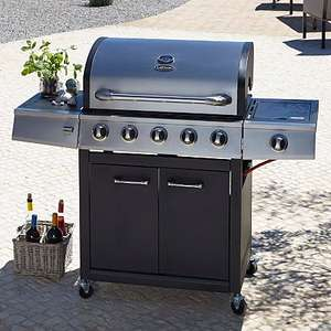 Uniflame 5 Burner & Side Gas Gril - £159 @ ASDA George