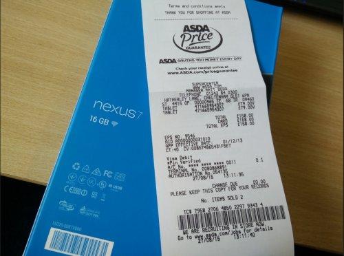 Nexus 7 2013 - 16GB, Wifi £79 @ Asda - instore (National)
