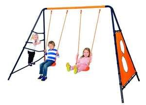 Hedstrom Alpha Double swing, climbing wall and fabric goal multiplay AMAZON £36.68