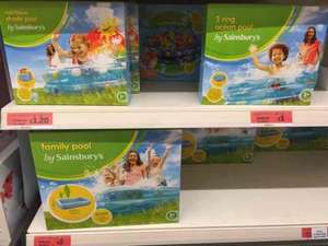 Kids paddling pools reduced to clear £1 - Sainsburys Pepperhill, Gravesend