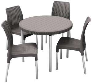 Keter Jersey 4 Seater Outdoor Dining Set - Graphite £45 Delivered at Amazon