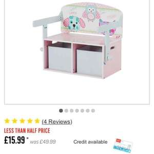 Chad valley convertible desk & chair £15.99 @ Argos