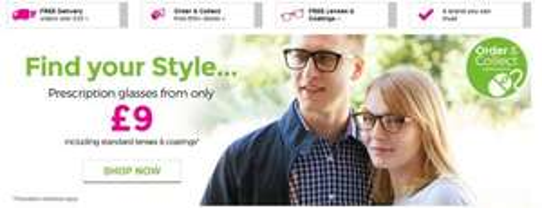 Prescription glasses £14.95 inc postage! SUPERDRUG OPTICIANS