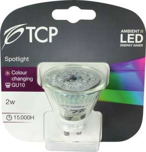 TCP GU10 LED Colour Changing/Mood Lighting  Light Bulb was £14.99 now £1.93 @ Homebase