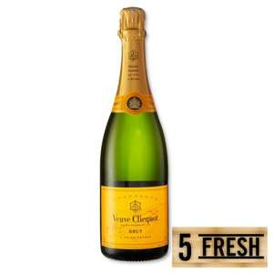 Veuve Clicquot Yellow Label £22.50 per bottle when buying 6 at Morrisons, £135 for six.