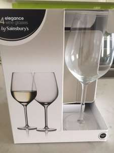 4 x Elegance Wine Glasses half price in-store £4.00 @ Sainsburys