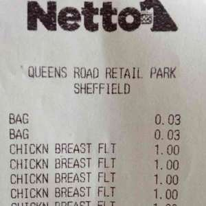 540g chicken breast £1 at Netto Queens Road Sheffield