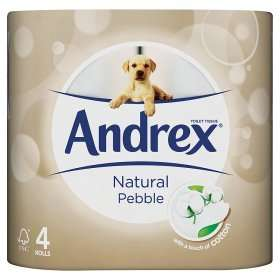 Andrex Pebble Toilet Tissue 4 Pack ONLY 20p at ASDA Groceries