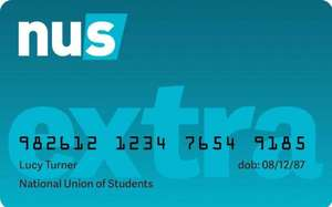 NUS Extra cards for all - no need to purchase a course £12
