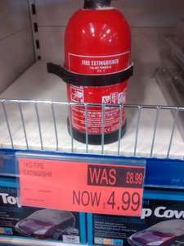 1Kg Fire Extinguisher £4.99 @ B&M