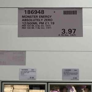 Monster Energy Zero x 12 £4.76 at Costco