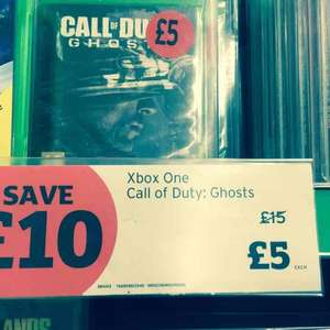 call of duty ghosts Xbox One £5 @ Sainsbury's in store