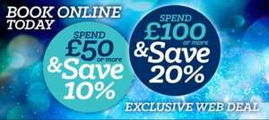 Get 10% off £50 spent or 20% off £100 spend @ Tamworth Snowdome