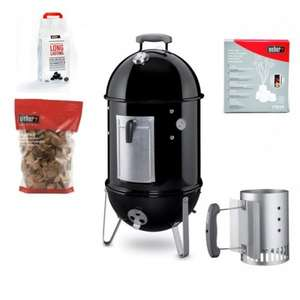 WEBER 37CM SMOKEY MOUNTAIN COOKER PROMOTION BUNDLE - £204 @ Keen Gardener