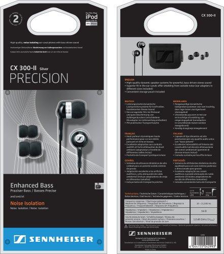 Sennheiser CX 300 II Precision Noise Isolating Earphones (Black) £20 @ Sainsbury Online
