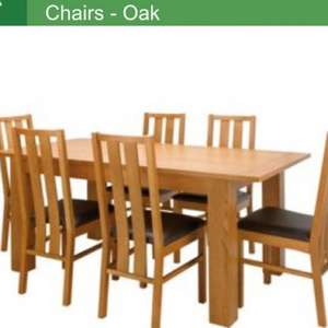 Dining table + 6 chairs £149.95 @ Homebase