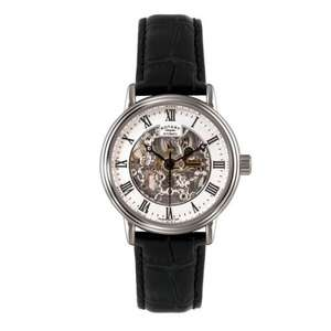 Rotary Men's Automatic Watch with White Dial Analogue Display and Black Leather Strap GS00308/21 £74.99 @ Amazon