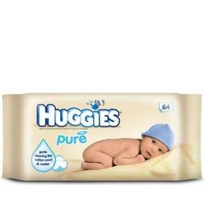 CLEARENCE HUGGIES BABY WIPES 12X64 £6.00 down from £11.00 @ Boots