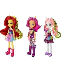 My Little Pony Equestria Dolls 3 pack, were £34.99 now £14.99 at Argos