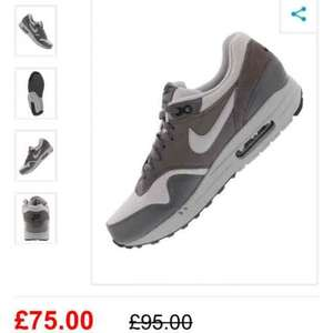 mens Nike air max 1 trainers £64.87 delivered @ lifestylesports using code