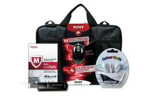 """Brand new Port Liberty 15.6"""" water resistant laptop bag (limited lifetime guarantee) + Polaris USB mouse + Transcend USB key + Maxell earphones + McAfee Livesafe (Unlimited Devices) + 12 Mo Warranty - £9.99 - Ebay / Argos Outlet"""