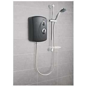 Triton Enrich Black Manual Electric Shower Black / Chrome 8.5kW with 2yr guarantee £50 @ Screwfix