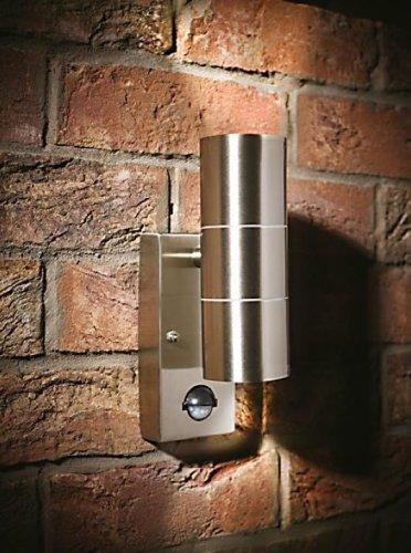 LAP GL-CIL26APIR Stainless Steel Up & Down Wall Light & PIR 35W £9.99 @ Screwfix
