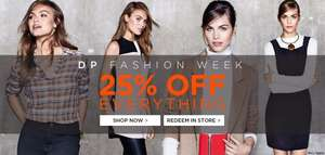 Dorothy Perkins 25% off EVERYTHING in store/ online