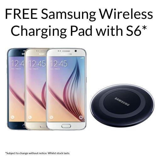 Sim free 128Gb Samsung Galaxy S6 with wireless charging pad £540 inc p&p @ Clove Technology