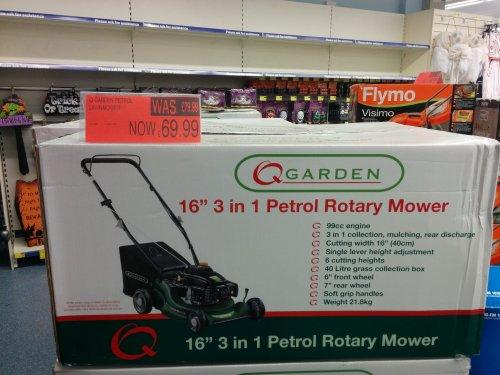 Q garden 99cc petrol mower £69.99 B&M