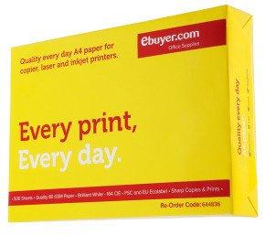 Ebuyer.com Everyday 80gsm A4 Printer Paper - 500 Sheets £2.34 Free P&P