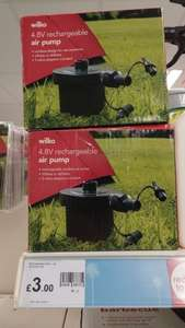 Rechargeable 4.8V air pump for air beds £3.00 Instore @ Wilko