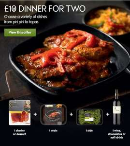 £10 DINNER FOR 2 @ WAITROSE,MAIN,SIDE, STARTER OR DESERT, WINE OR CHOCS OR SOFT DRINK