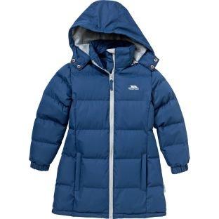 Trespass Girls' Navy Tiffy Padded Jacket, Ages 5-6, 7-8, 9-10, Less Than Half Price £14.99 @ Argos