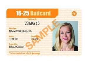 1 Year 16-25 Railcard for £27