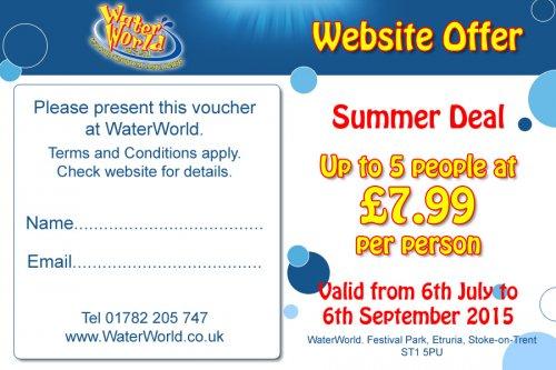 Waterworld - Stoke. £7.99 pp