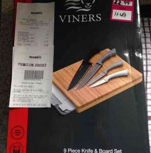 Viners 9pc Knife and Board Set £11.49 @ Dunelm instore