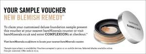 *** New Blemish Remedy Foundation customised sample by Bare Minerals ***