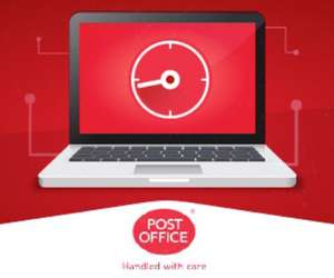 Free unlimited broadband for 12 months only pay line rental  £15pm @ The Post Office (18 months contract) (£318)
