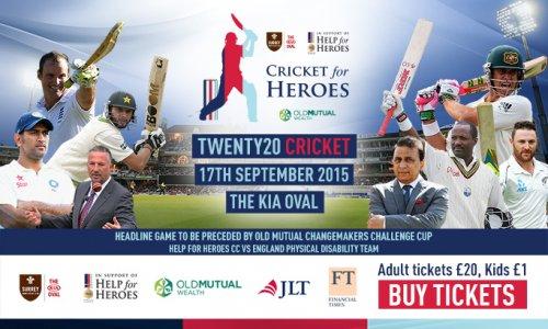 Twenty Twenty Cricket Match at Kennington Oval Heroes vs Rest of the World XI £20
