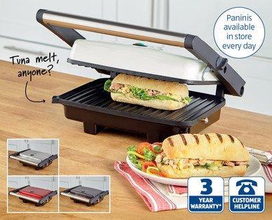 Panini Press ALDI £17.99 with 3 year warranty