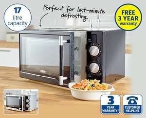 Microwave Oven £34.99 ( 17 Litre, 3 years warranty ) @ Aldi