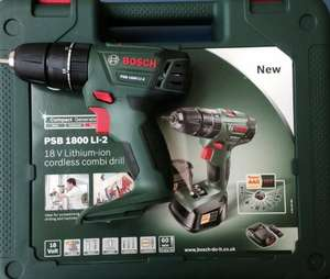 BOSCH PSB 1800 LI CORDLESS DRILL BODY ONLY + CARRYING CASE £27.67 @ Amazon/Hollywell Tools