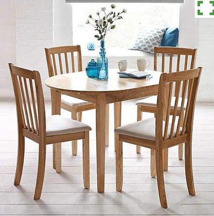 Natural wood dining set £50.00 @ Dunelm
