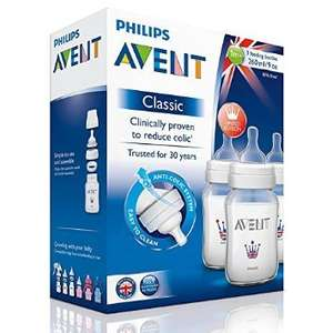 Avent Classic Bottles 260ml Pack of 3 Limited Edition £6.99 @ Weldricks Pharmacy