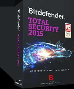 Bitdefender Total Security 2015, 3 users, 1 year - £16.94 @ Bitdefender.co.uk