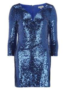 Alice & You Blue Sweetheart Bodycon Dress £7 @ dorothy perkins